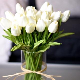 1 Bó Hoa Tulip Nhân Tạo Trang Trí Nhà Cửa Tiệc Cưới thumbnail