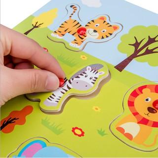 Bộ đồ chơi xếp hình bảng gỗ – Các chủ đề
