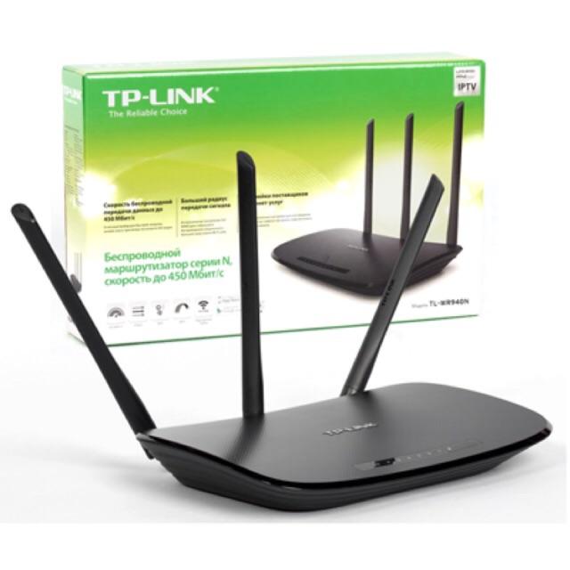[SALE 10%] Thiết bị phát wifi, modem wifi TP-LINK TL-WR940N (v3.0) 450mpbs 3 ăng ten chính hãng