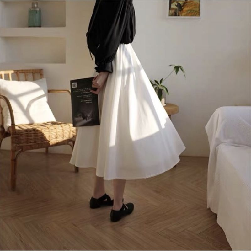 Chân Váy Dài Lưng Cao Thời Trang Xinh Xắn Dành Cho Nữ