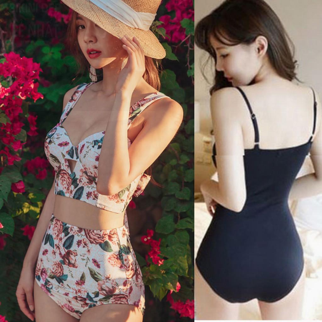 Bikini áo tắm liền sexy thời trang đi biển tôn dáng trẻ trung Dây Xỏ Ngực | BigBuy360