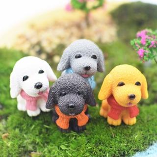 4 Pcs/set Mini Cute Dogs Resin Micro Landscape Home Car Ornament Miniature Figurine Dollhouse Garden Decor