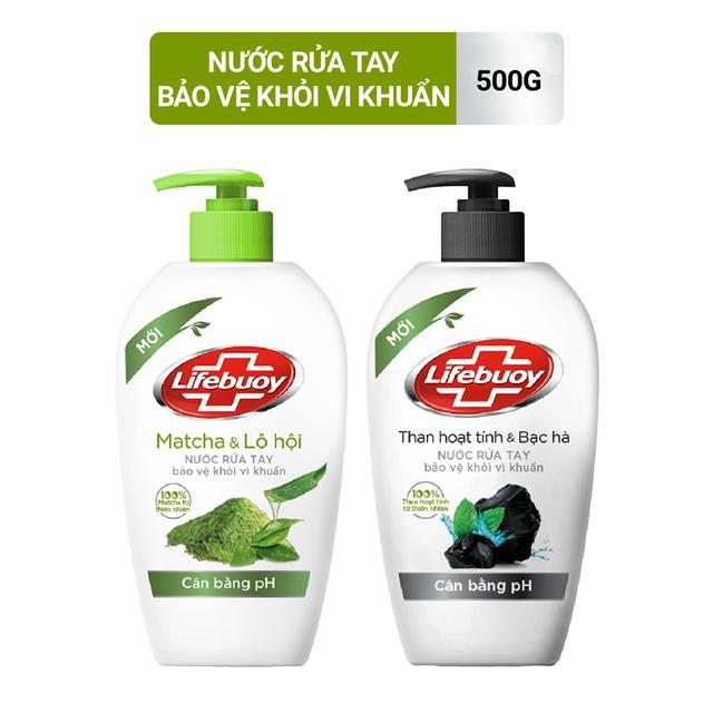 Nước rửa tay Lifebuoy Thiên nhiên Bảo vệ khỏi vi khuẩn và cân bằng PH 500gr (