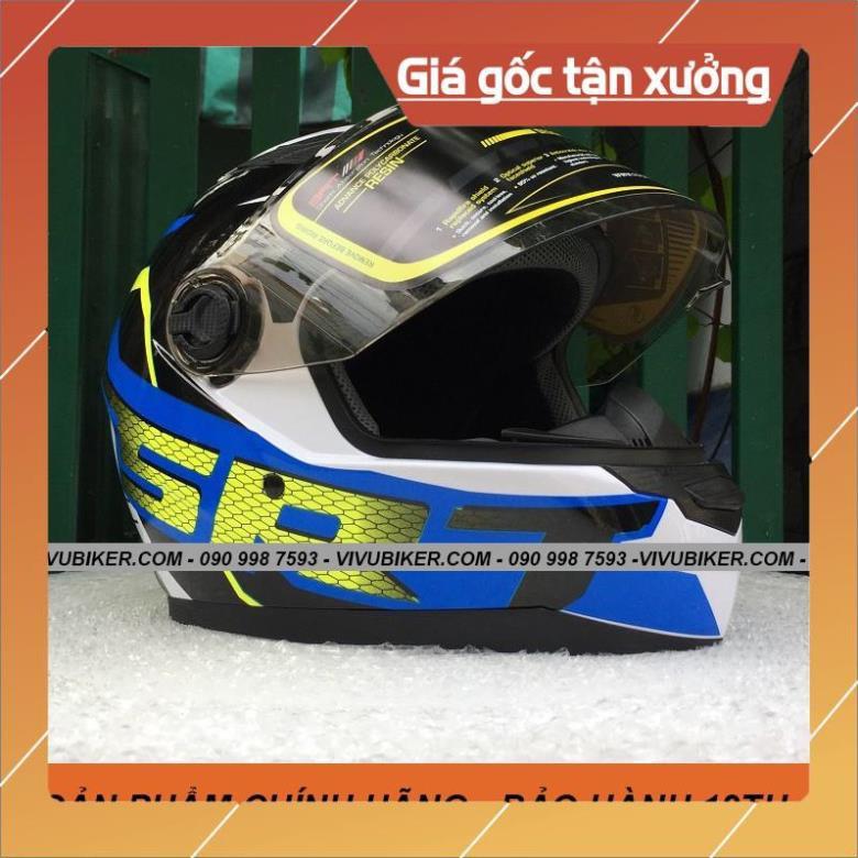 [Giống ảnh] Mũ nón bảo hiểm Fullface Asia m136 đen nhám, Fullface đen bóng AGU kính đen chính hãng bảo hành 12th