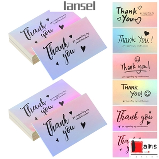 LANSEL Customer Thank You For Supporting My Small Business Reflective Online Retail Laser Appreciate Cards Package Inserts 5 9cm Purchase Shopping Gift Greeting Postcard thumbnail