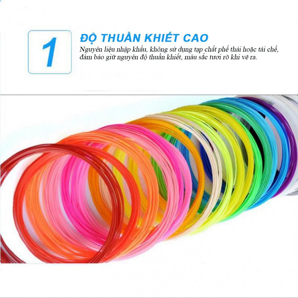 5 màu mực ABS/PLA dành cho bút vẽ 3D
