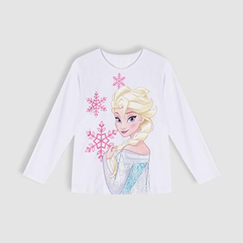 Áo thun Elsa cổ tròn dài tay bé gái Rabity 5187.5332