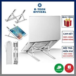 Giá đỡ laptop stand nhôm hỗ trợ tản nhiệt có thể gấp gọn chỉnh độ cao để laptop ipad macbook surface D103 thumbnail