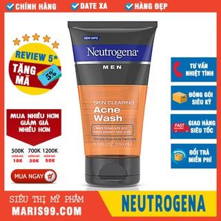 Sữa Rửa Mặt Cho Nam Neutrogena Men Skin Clearing Acne Wash (150ml) _ NTG006SRM