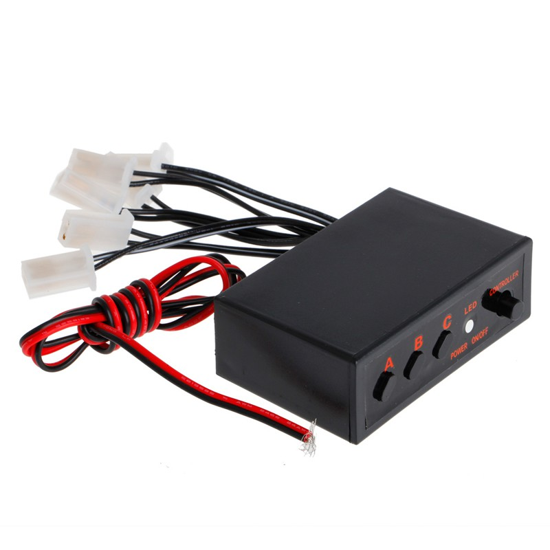 ROX LED Car Strobe Flash Light Lamp Emergency Flashing Controller Box DC 12V