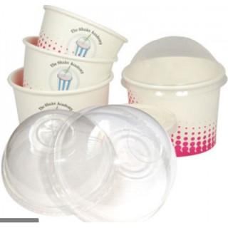 Sỉ 100 cốc giấy có nắp cầu đựng kem, cupcake , cốc cừu, cốc giấy dùng 1 lần đựng bánh kem