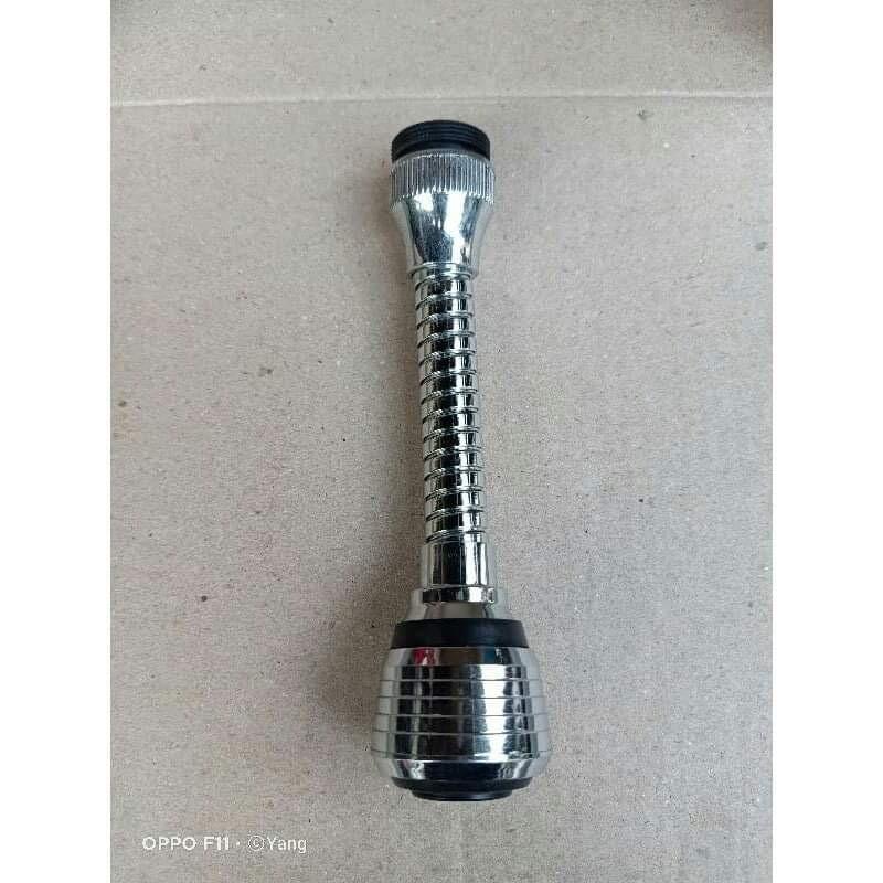 Đầu vòi tăng áp lọc nước xoáy 360 độ dài 15cm