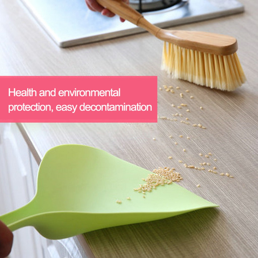 Aileaile.id    Mini Desktop Sweep Cleaning Brush Small Broom Dustpan Set