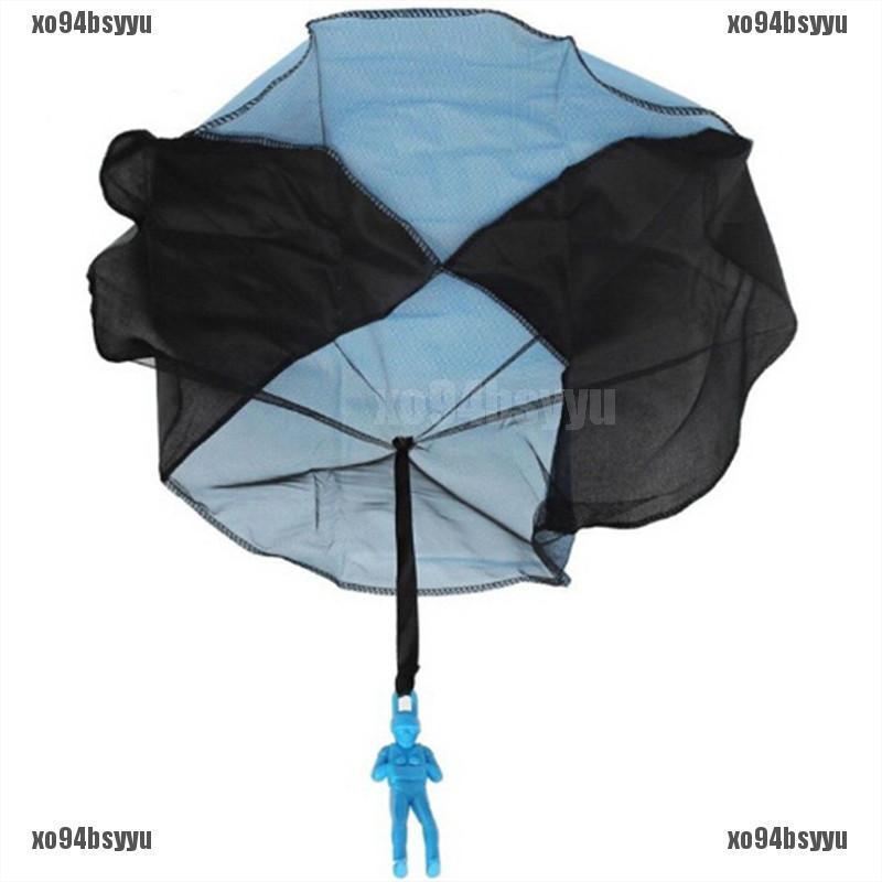 [xo94bsyyu]Hand Throwing Mini Soldier Play Parachute Kids Educational Outdoor