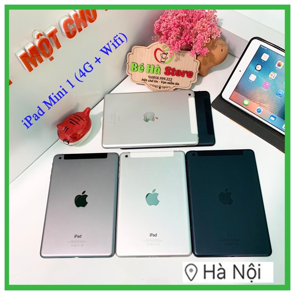 Máy Tính Bảng iPad Mini 1 (4G + Wifi) 16/32/64Gb - Zin Đẹp 99% - Phụ kiện đầy đủ