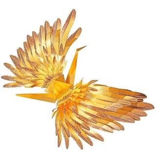 Mô hình lắp ráp kim loại Hạc may mắn Piececool Gold P098-GK