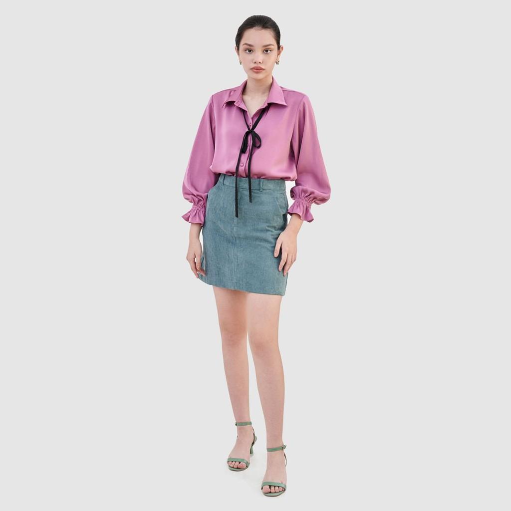 Váy mini basic nhung tăm - MARC FASHION