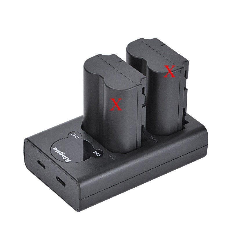 Sạc đôi Fujifilm X-T4 loại mới có LCD cho pin NP-W235 của máy ảnh Fujifilm XT4 hãng KingMa