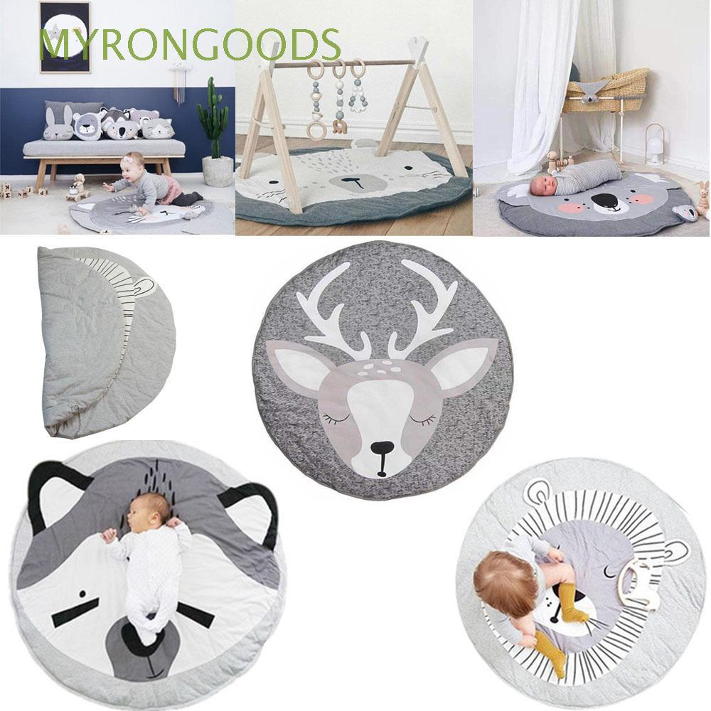 Crawling Sleeping Carton Animal Round Newborn Infant Baby Play Mats