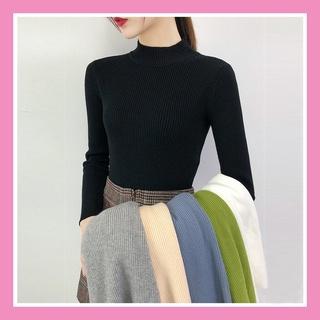 Áo len tăm nữ cổ lọ 3 phân trơn ôm body mềm mịn co giãn loại 1 nhiều màu dễ phối đồ hàng Quảng Châu AL01