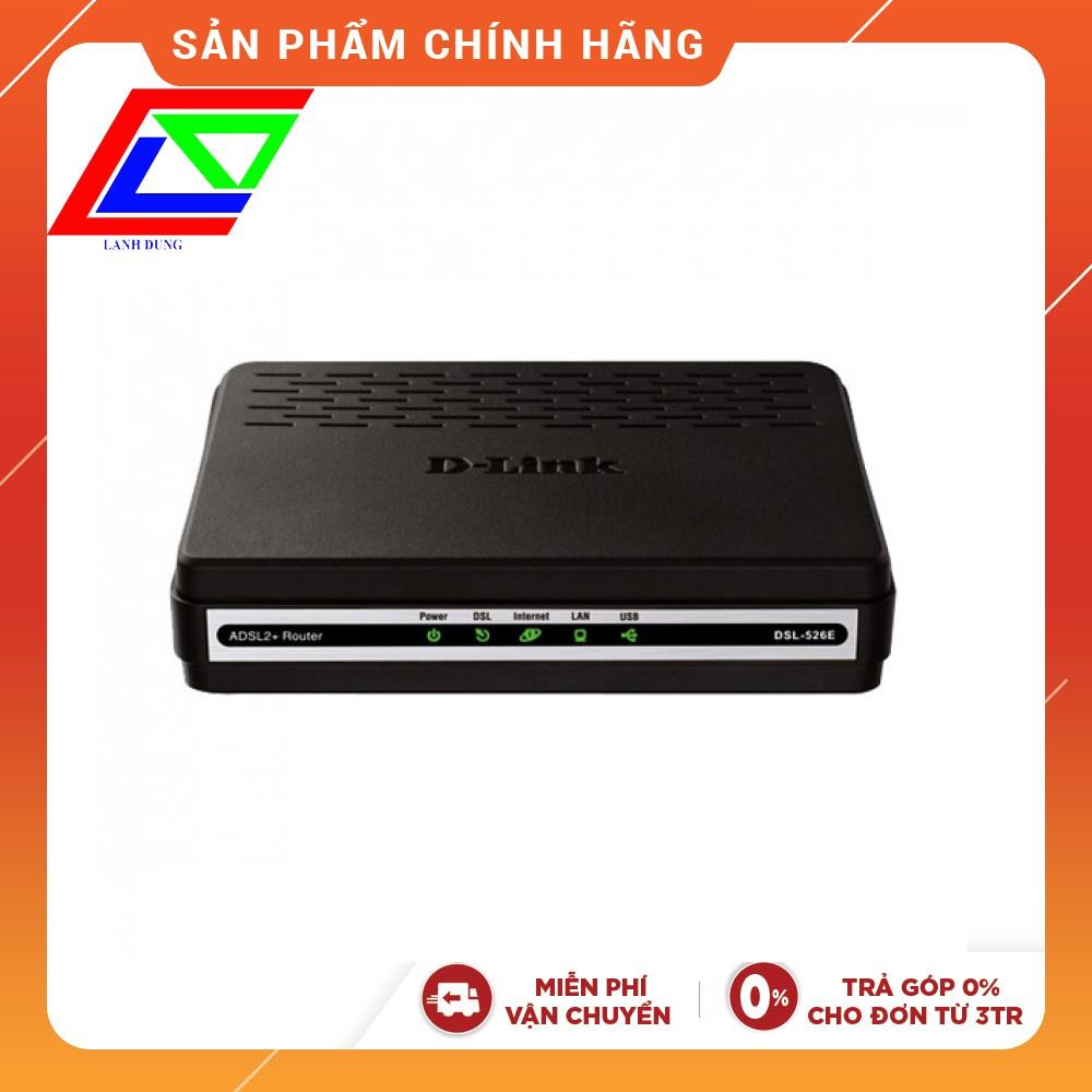 [Mã ELCL250K giảm 7% đơn 250K] Modem ADSL Dlink 526E chính hãng