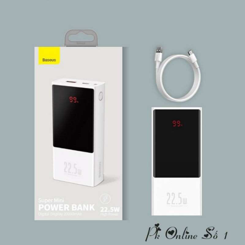 Baseus Super mini digital Display power bank 20000mAh 22.5W