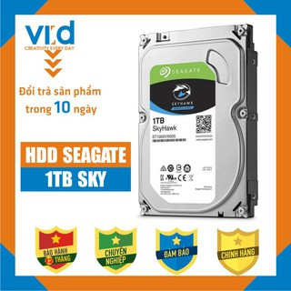Ổ cứng HDD Seagate Skyhawk 1TB - Chuyên dụng cho hệ thống Camera và giám sát - Bảo hành chính hãng 12 tháng