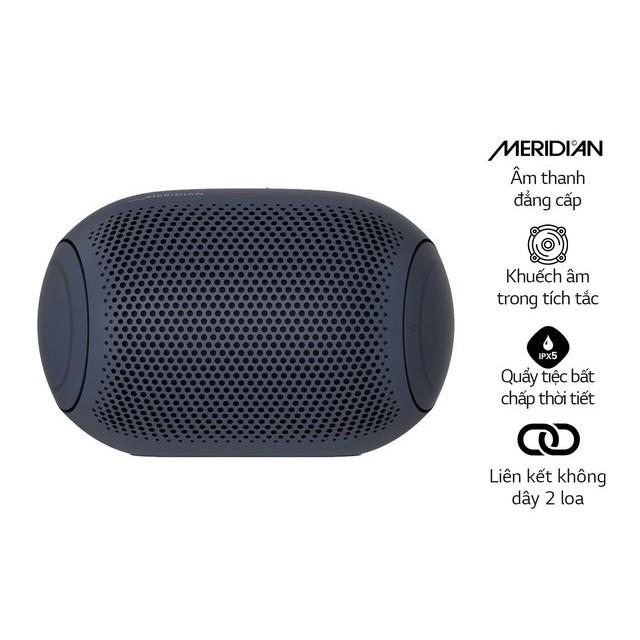 Loa Bluetooth Di Động LG Xboomgo PL2 - Hàng Chính Hãng - Màu Xanh Đen - Kết nối cùng lúc 2 loa với 1 điện thoại