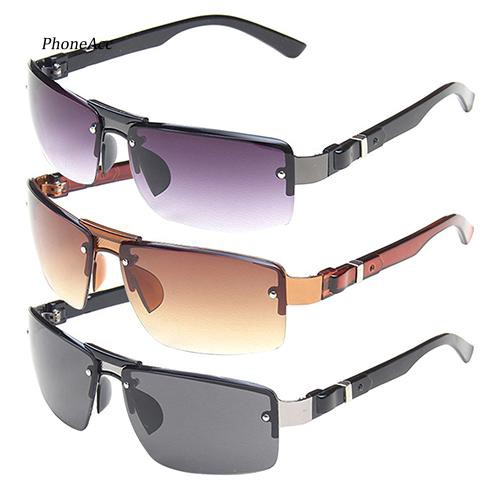 PH_Men's Rectangular Sunglasses Shades Travel Driving Fishing Eyewear