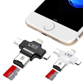 Đầu đọc thẻ SD Micro USB type C 4 trong 1 cho điện thoại máy tính bảng IOS Android