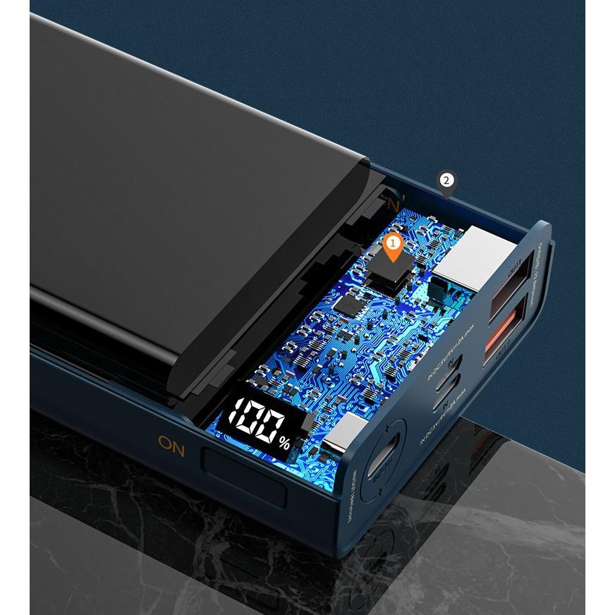 [ CHÍNH HÃNG ] Pin sạc dự phòng Remax RPP-108 20000mAh lõi Li-polymer, 2 cổng sạc nhanh Output QC3.0 và PD18 - VOOC