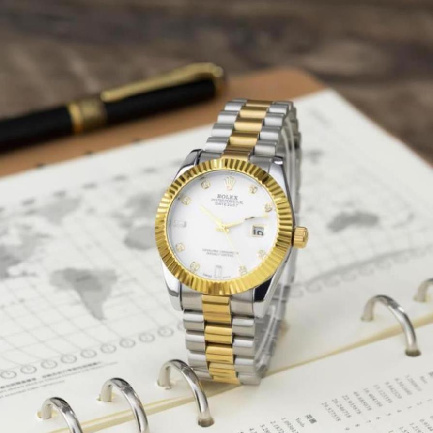 Đồng hồ nam Rolex - dâu kim loại màu denim kiểu dáng sang trọng - DH508 -Hongnhungshop