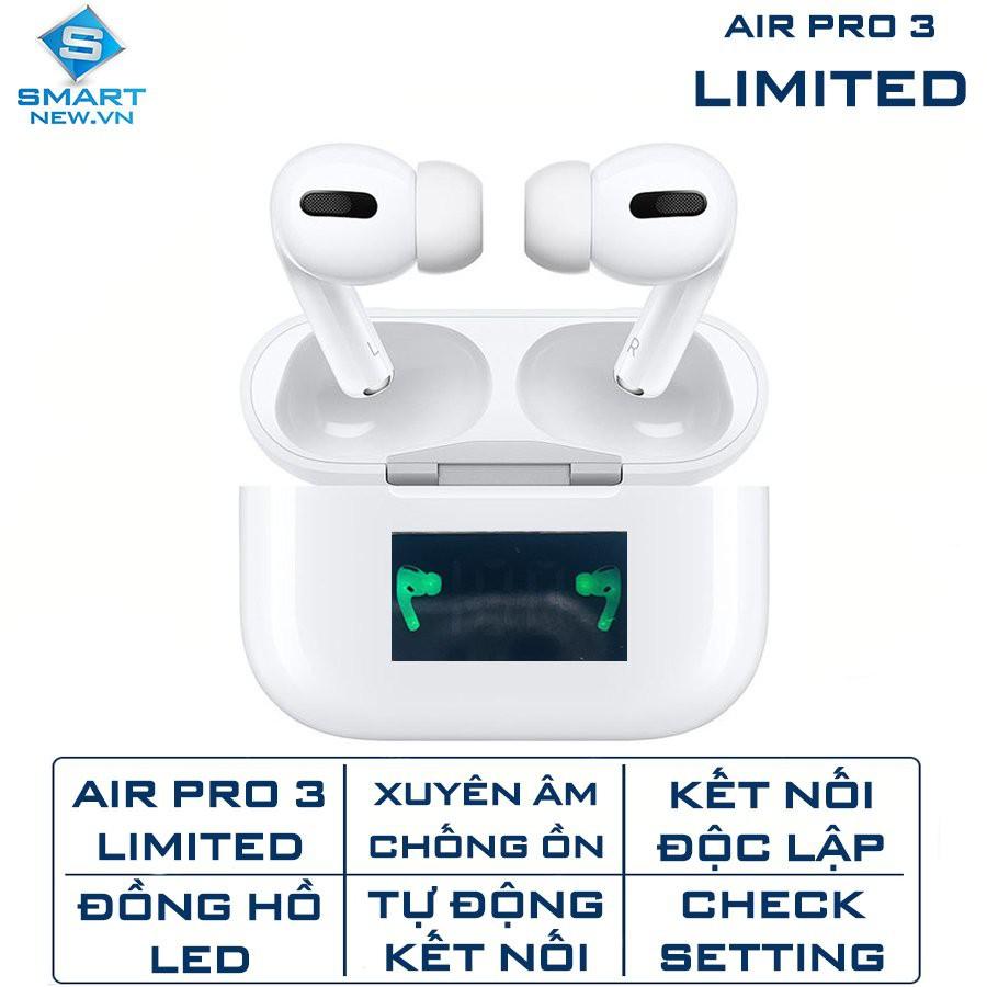 [Mã SKAMPUSHA7 giảm 8% đơn 250k]Tai nghe bluetooth không dây TWS Air Pro 3 LIMITED - Chống ồn - xuyên âm - Đồng hồ LED