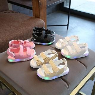 Giày Sandal Đế Gắn Đèn Led Chống Trượt Cho Bé thumbnail