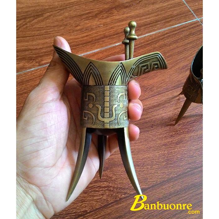 [XẢ KHO 3 NGÀY]  Ly Rượu Đồng Thời Tần, có hai size 10cm và size 13.5cm