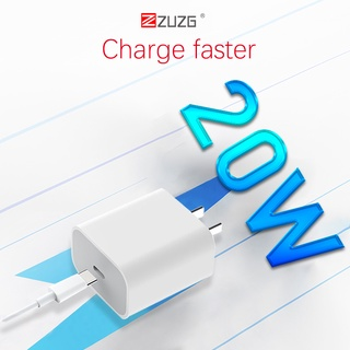 Củ sạc nhanh iphone 20w công nghệ PD chính hãng ZUZG PD02 giá rẻ thumbnail