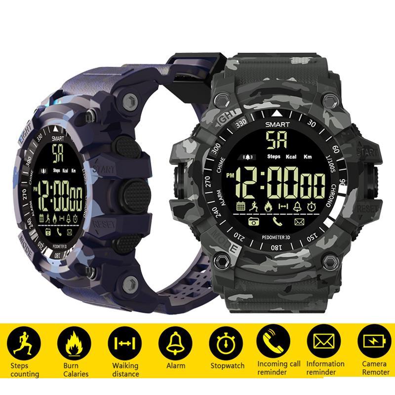 Bluetooth Sport Smart Watch 5ATM chống thấm nước ngụy trang đồng hồ chờ lâu