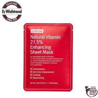 Mặt Nạ Vitamin Dưỡng Trắng Da By Wishtrend Natural Vitamin 21.5% Enhancing Sheet Mask 23ml