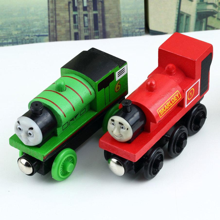 The Train Engine Wooden Child Toy 3 pairs of wheels