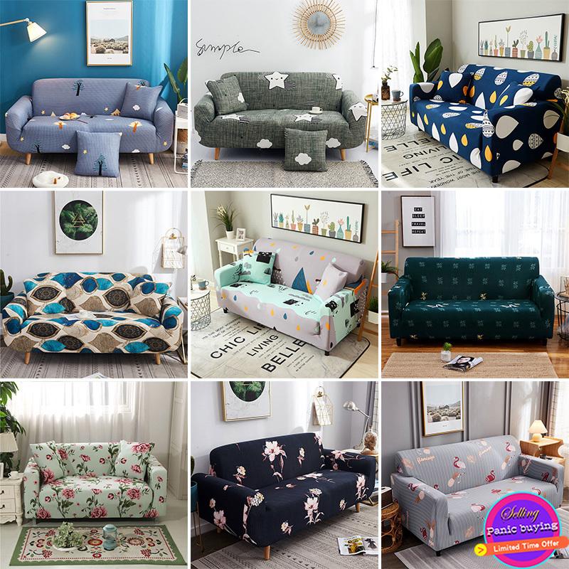 Áo bọc ghế sofa hình chữ L/chữ U bằng vải nỉ co giãn chống bụi thích hợp cho 4 mùa cho ghế 1/2/3/4 chỗ