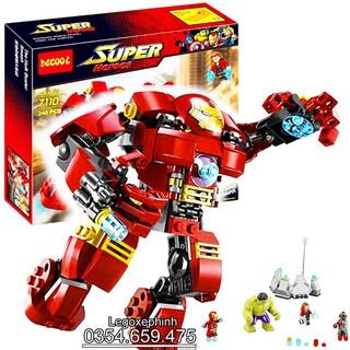 Bộ Lego Xếp Hình Ninjago Người Sắt – Robot Iron Man. Gồm 248 chi tiết. Lego Ninjago Lắp Ráp Đồ Chơi Cho Bé.