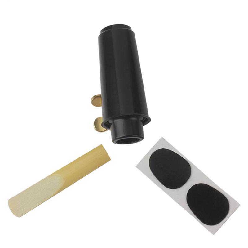 ♥【GOOD QUALITY】Zebra Soprano Sax Saxophone Mouthpiece Plastic with Cap Metal
