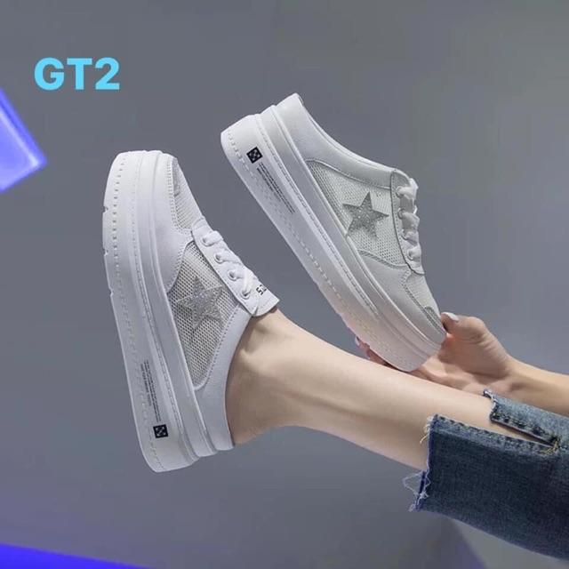 Giày thể thao hở gót đế 5cm