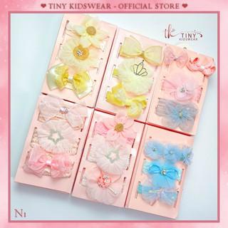 Set 3 băng đô hoa xinh xắn (KÈM HỘP QUÀ) cho bé gái – Quà tặng đầy tháng [N1]