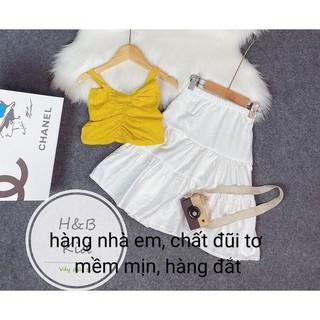 váy 2 dây đũi tơ dòng thời trang thiết kế sang chảnh 12-16kg