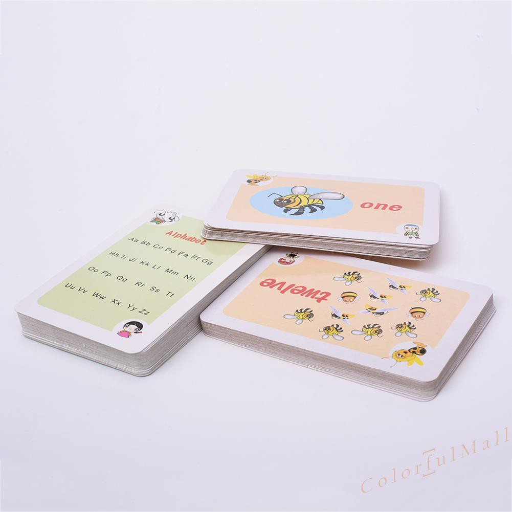 ☂Kids☂Learning Card ABC English Literacy Card Educational Toy