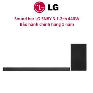 Loa thanh Soundbar LG 3.1.2 SN8Y 440W công nghệ Meridian Chính hãng