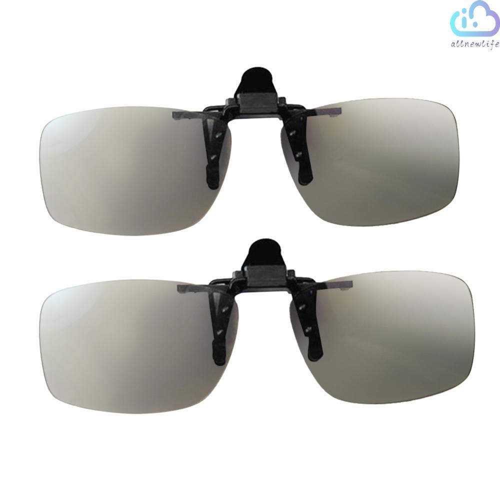 A&L CL01 Clip-on Passive 3D Glasses Circular Polarized Lenses for Polarized TV Real D 3D Cinemas for Sony Panasonic