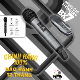 Micro karaoke ô tô đa năng bluetooth cao cấp BX7 cân mọi loa tivi, vi tính, harman kardon, loa kéo, loa ô tô bảo bh 12th