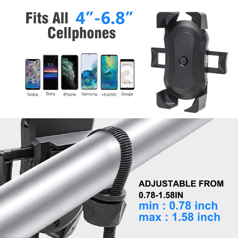Waterproof Bicycle Phone Holder for Mountain or Road with Touch Screen/360 ° Rotating Bracket for All Smartphone